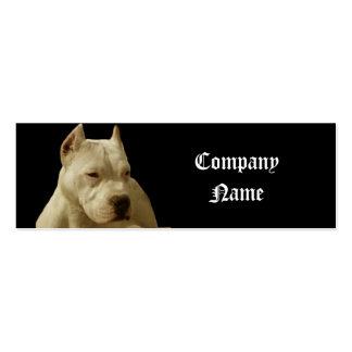 Pitbull blanco Terrier Tarjetas De Visita Mini