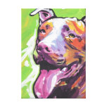 Pitbull Bright Colorful Pop Dog Art Gallery Wrapped Canvas