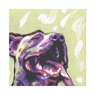 Pitbull Bright Colorful Pop Dog Art Canvas Print