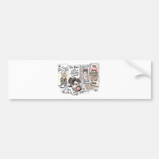 Pitbull Cartoon Bumper Sticker