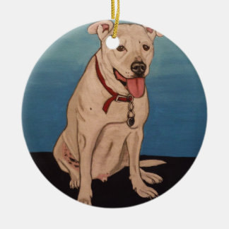 Pitbull Ceramic Ornament