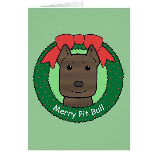 Pitbull Christmas Cards
