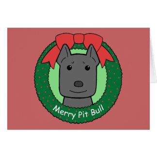 Pitbull Christmas Stationery Note Card