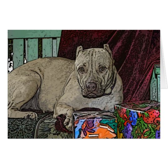 Pitbull Christmas Cards Violet