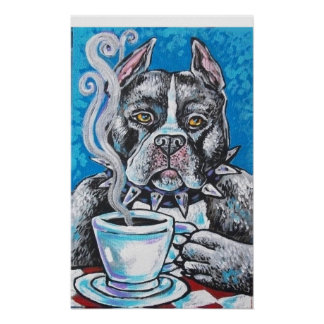pitbull coffee poster