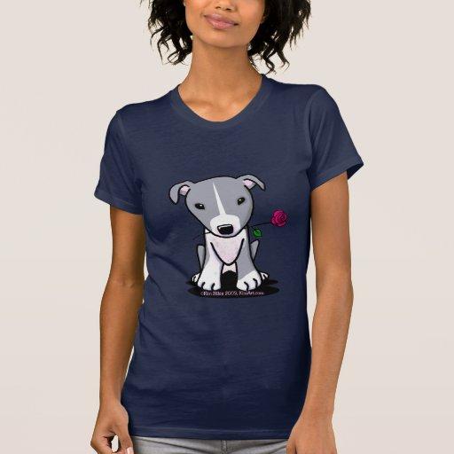 Pitbull con el perro de la flor camiseta