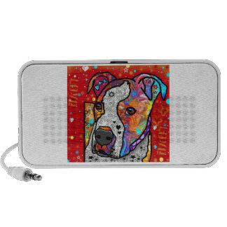Pitbull cósmico - colorido brillante - idea del iPod altavoz