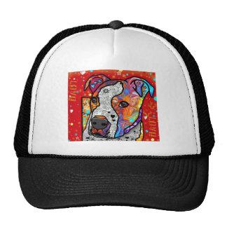 Pitbull cósmico - colorido brillante - idea del gorros bordados