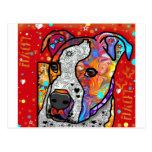 Pitbull cósmico - colorido brillante - idea del tarjetas postales