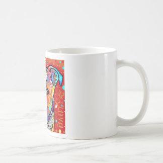 Pitbull cósmico - colorido brillante - idea del taza