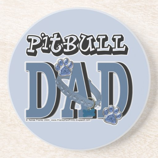 Pitbull DAD Coasters