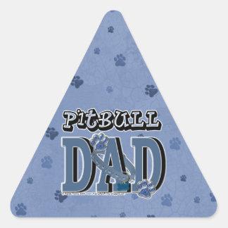 Pitbull DAD Triangle Sticker