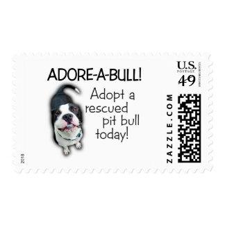 ¡Pitbull de Adorar-UNO-Bull! Estampillas