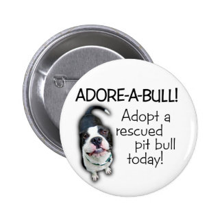 ¡Pitbull de Adorar-UNO-Bull! Pin Redondo De 2 Pulgadas