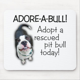 ¡Pitbull de Adorar-UNO-Bull! Tapetes De Raton