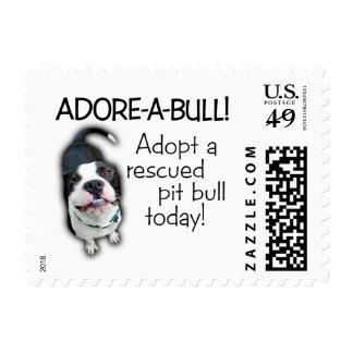 ¡Pitbull de Adorar-UNO-Bull! Timbre Postal