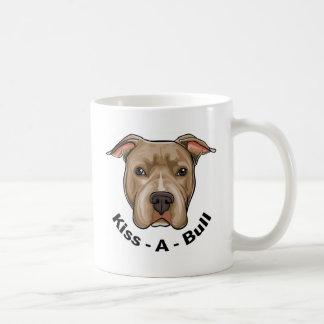 Pitbull de Beso-UNO-Bull Taza De Café