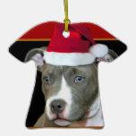 Pitbull del navidad adornos de navidad
