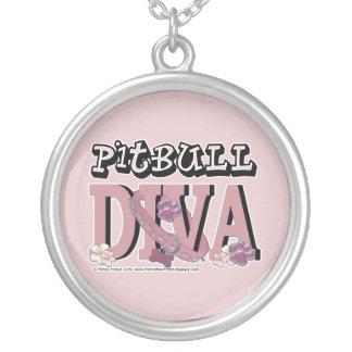 Pitbull DIVA Round Pendant Necklace
