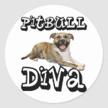 PitBull DIVA - Tigger Classic Round Sticker