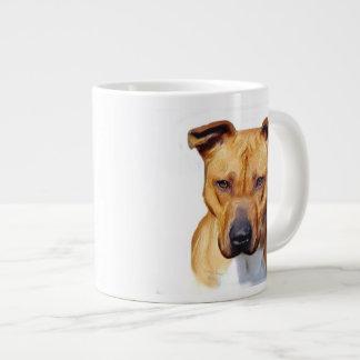Pitbull dog 20 oz large ceramic coffee mug