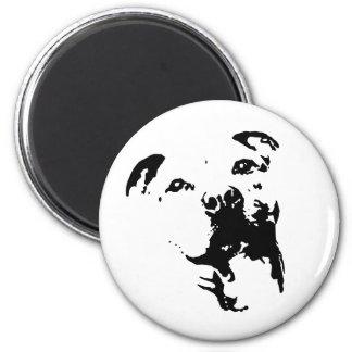 Pitbull Dog 2 Inch Round Magnet