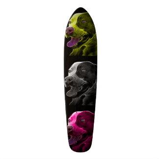pitbull dog art skateboard