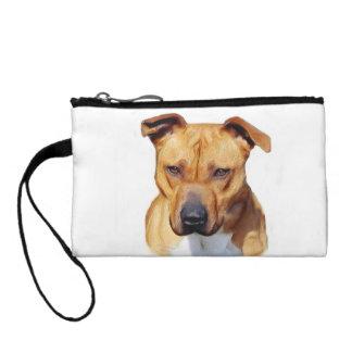 Pitbull dog change purse