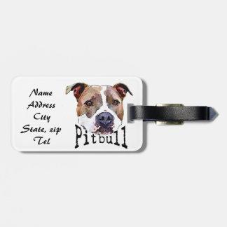 Pitbull Dog Bag Tag