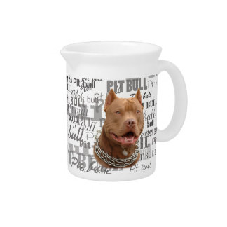 Pitbull dog beverage pitchers