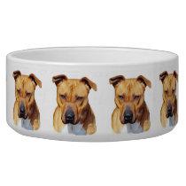 Pitbull dog bowl