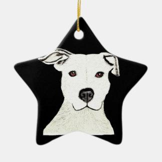 Pitbull dog breed christmas ornaments