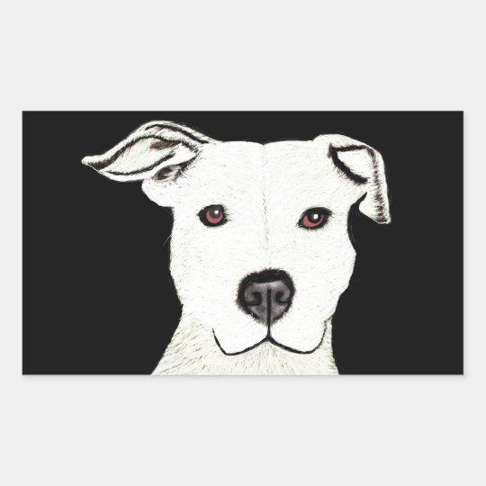 Pitbull dog breed rectangular sticker