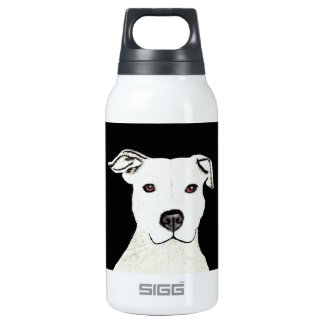 Pitbull dog breed thermos water bottle