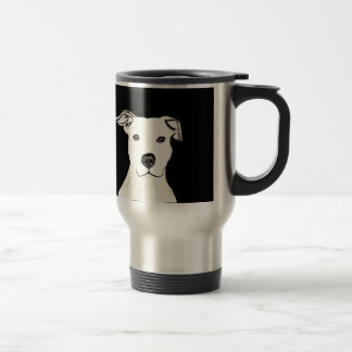Pitbull dog breed travel mug