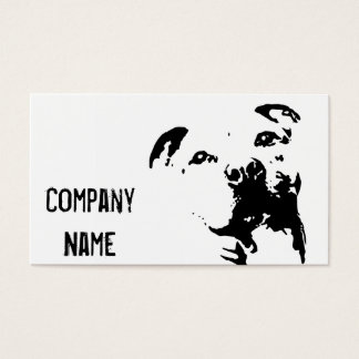 Pitbull Dog Business Card