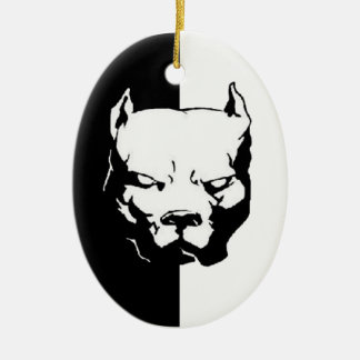 Pitbull Dog Ceramic Ornament