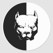 Pitbull Dog Classic Round Sticker