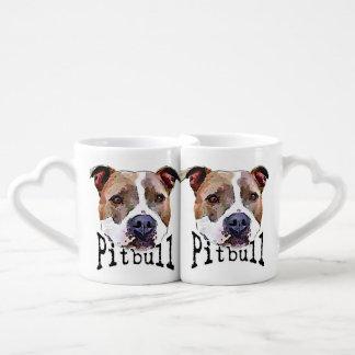 Pitbull Dog Coffee Mug Set