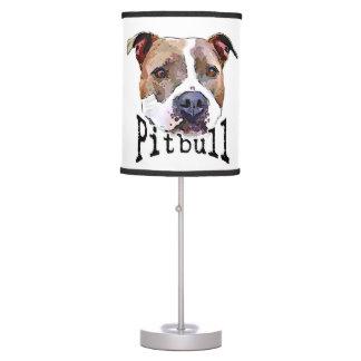 Pitbull dog desk lamp