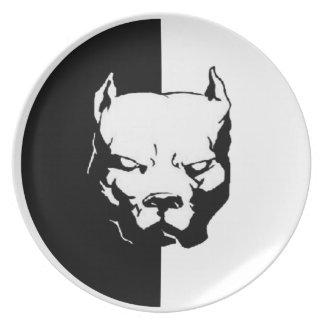 Pitbull Dog Dinner Plate