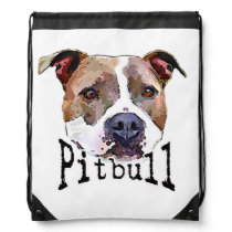 Pitbull Dog Drawstring Backpack