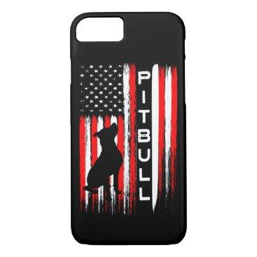Pitbull Dog Flag American Phone Case Pit bull gift