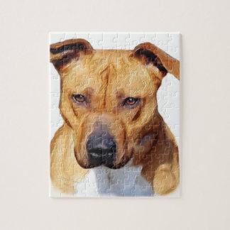 Pitbull dog jigsaw puzzle