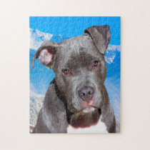 Pitbull Dog. Jigsaw Puzzle