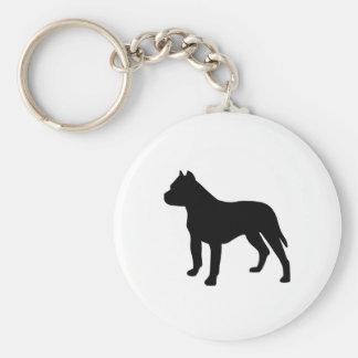 Pitbull Dog Basic Round Button Keychain
