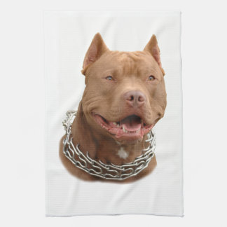 Pitbull dog kitchen towel