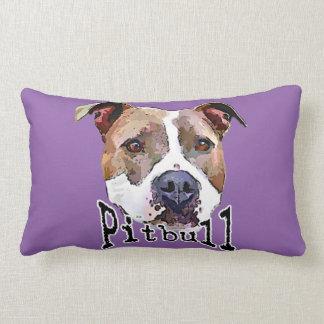 Pitbull dog lumbar pillow