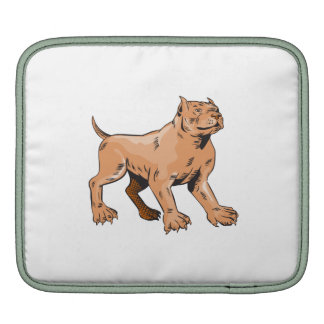 Pitbull Dog Mongrel Standing Etching Sleeves For iPads
