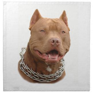 Pitbull dog napkin